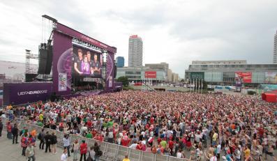 Strefa kibica podczas Euro 2012 w Warszawie