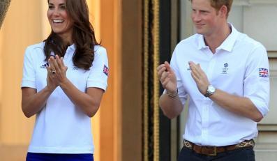 Księżna Catherine i książę Harry