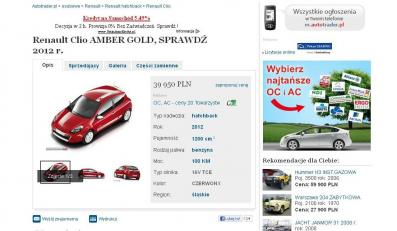 Renault clio III AMBER GOLD