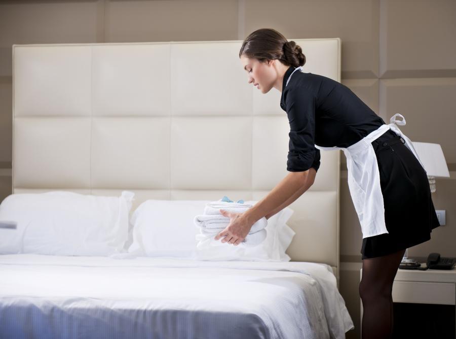 Pokojówka w hotelu