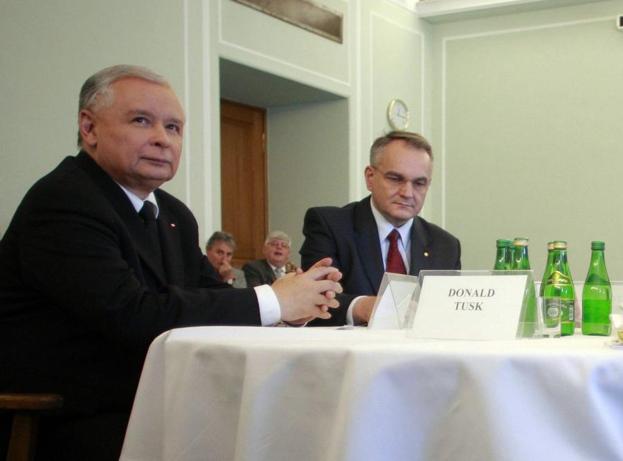 Waldemat Pawlak i Jarosław Kaczyński