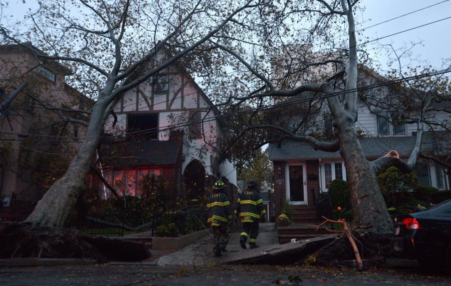 Zniszczenia wywołane huraganem Sandy