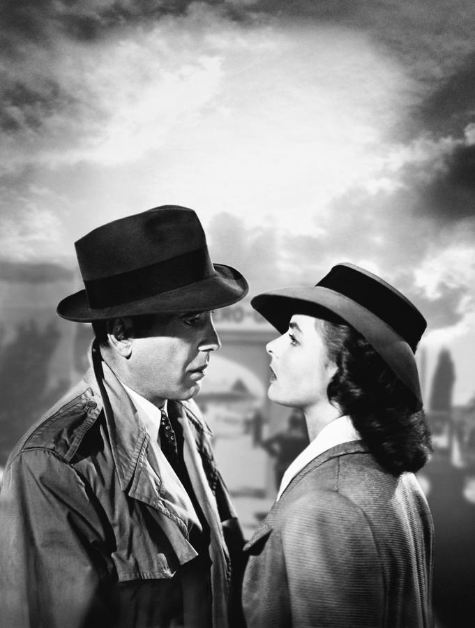 "Ingrid Bergman i Humphrey Bogart w filmie ""Casablanca"""