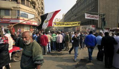 Demonstracja przeciwko prezydentowi Egiptu