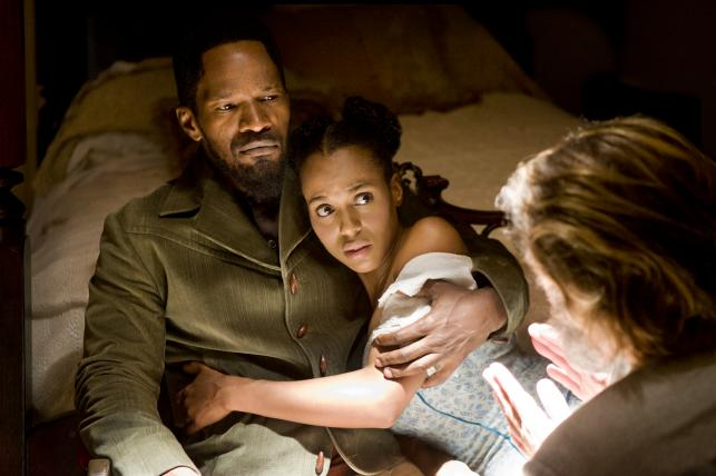 """Jamie Foxx i Kerry Washington w filmie """"Django"""""""