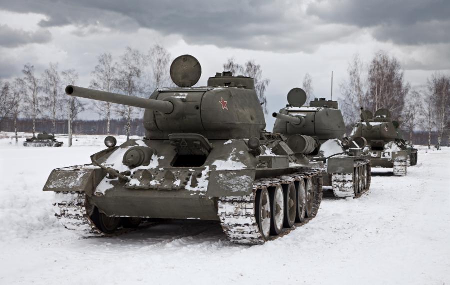 Kolumna radzieckich T-34