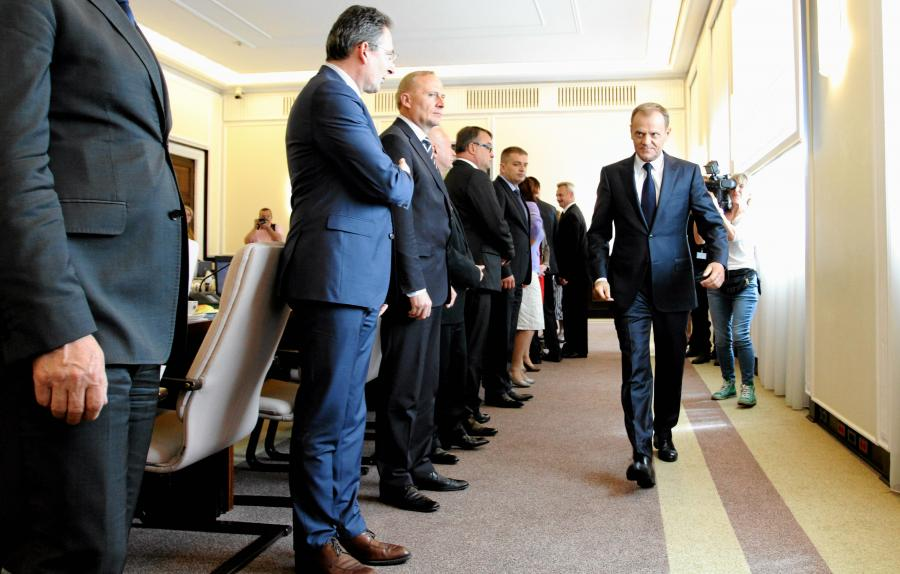 Premier Donald Tusk na posiedzeniu Rady Ministrów