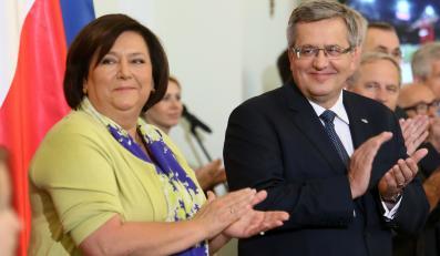 Bronisław Komorowski z małżonką