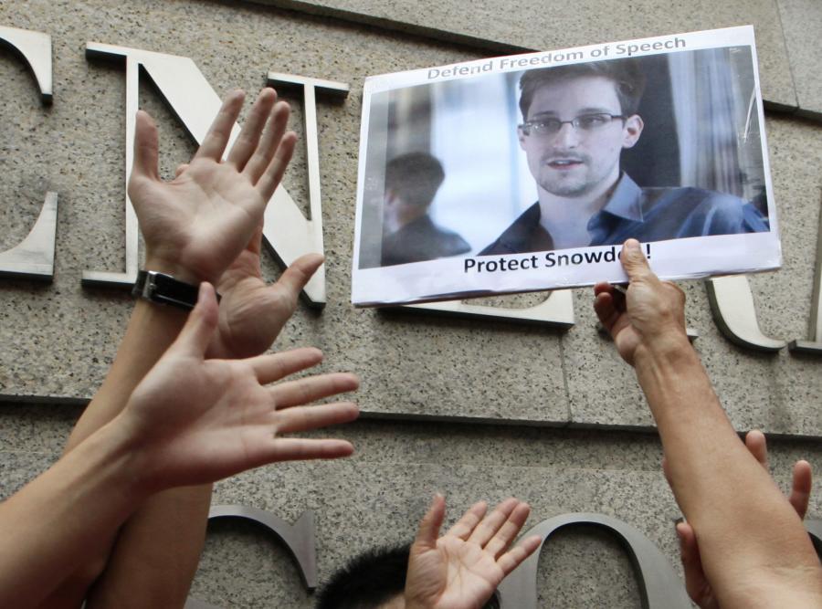 Protest w obronie Edwarda Snowdena