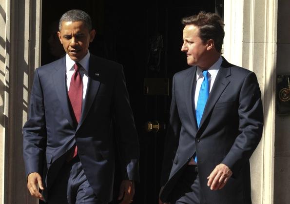 Barak Obama i David Cameron