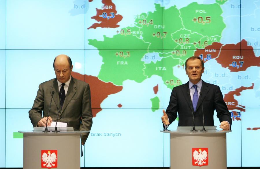 Donald Tusk i Jacek Rostowski