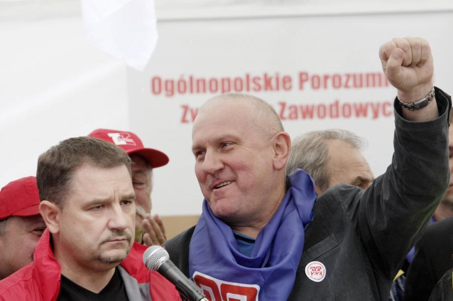Lider Solidarności Piotr Duda i szef OPZZ Jan Guz
