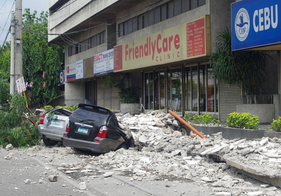 Trzęsienie ziemi filipińskiej na wyspie Cebu