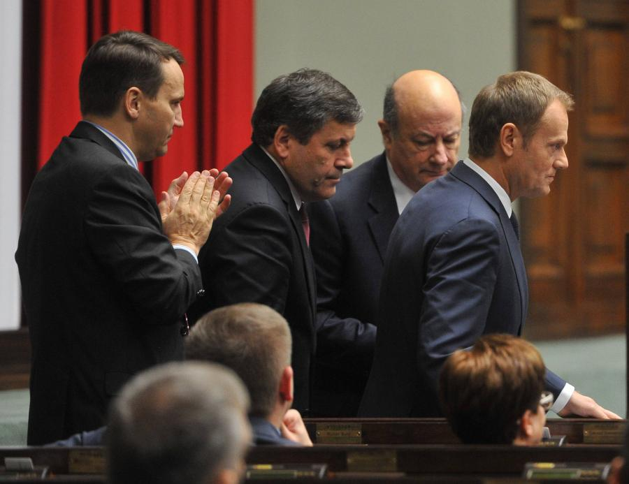Donald Tusk i jego ministrowie