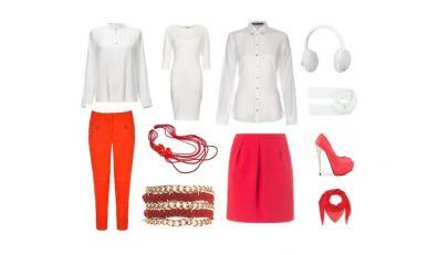 Modne stylizacje biało-czerwone