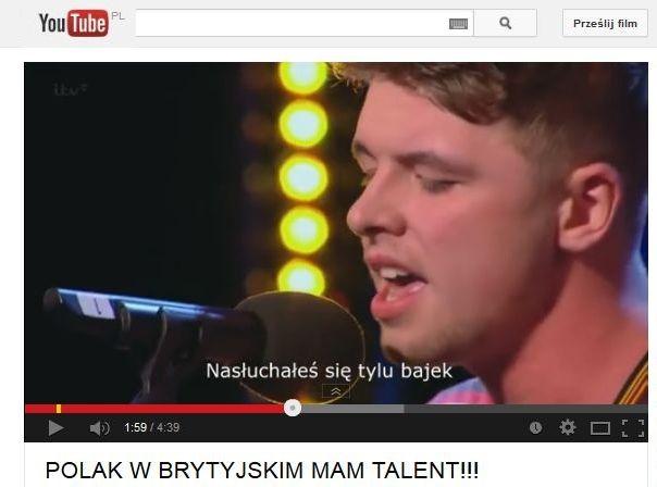 """fałszywy Polak w brytyjskim """"Mam talent"""""""