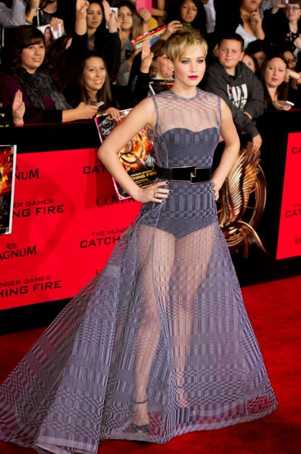 Jennifer Lawrence na czerwonym dywanie