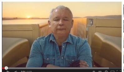 Jarosław Kaczyński w parodii reklamy Volvo