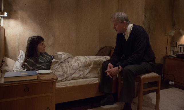 "Charlotte Gainsbourg i Stellan Skarsgard w filimie ""Nimfomanka"""