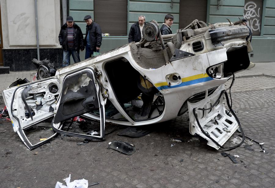 Straty po walkach w Kijowie