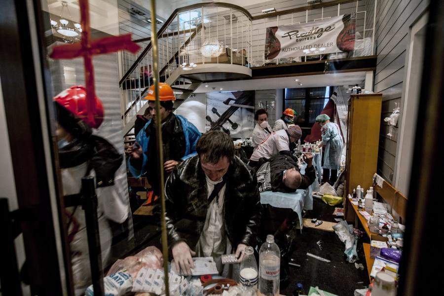 Ranni w walkach w Kijowie