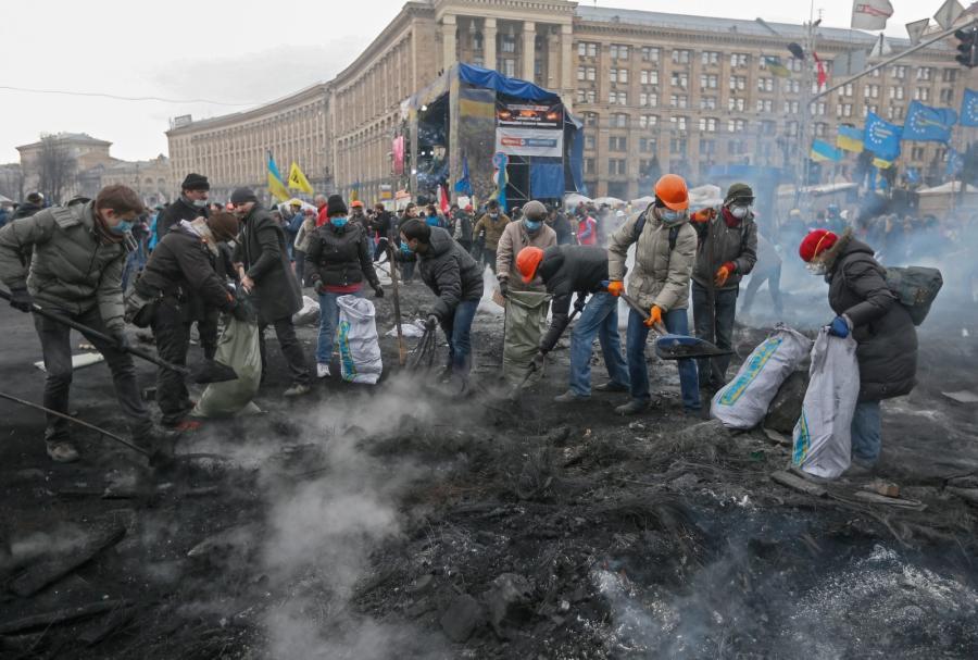 Majdan Niepodległości w Kijowie
