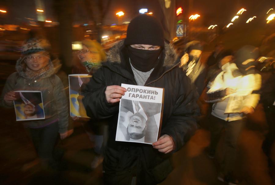 Przeciwnik prezydenta Janukowycza na Majdanie