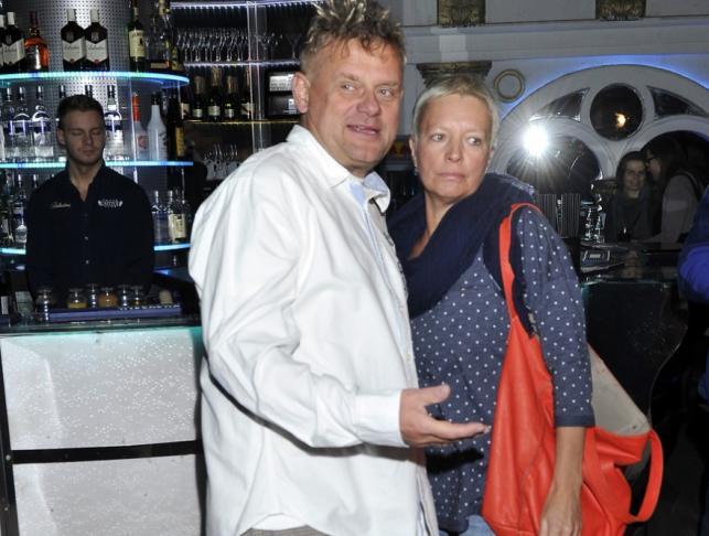 Kazik Staszewski z żoną Anną 17 marca 2014 r.