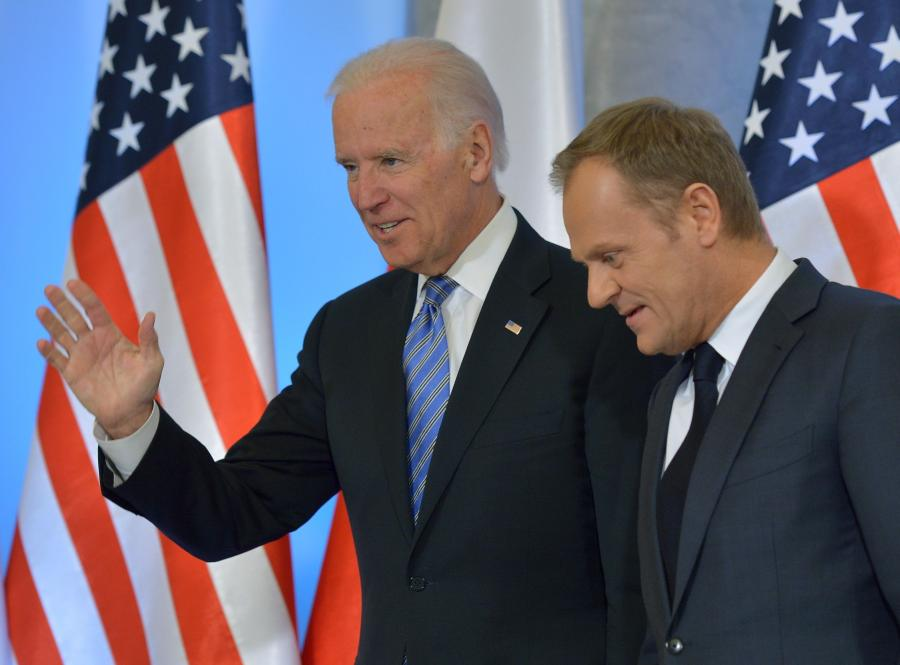 Wiceprezydent USA Joe Biden i premier Donald Tusk