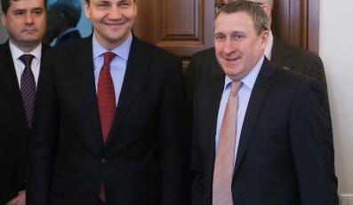 Andrij Deszczyca i Radosław Sikorski