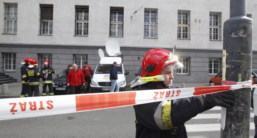 Ewakuacja Sądu Apelacyjnego w Katowicach