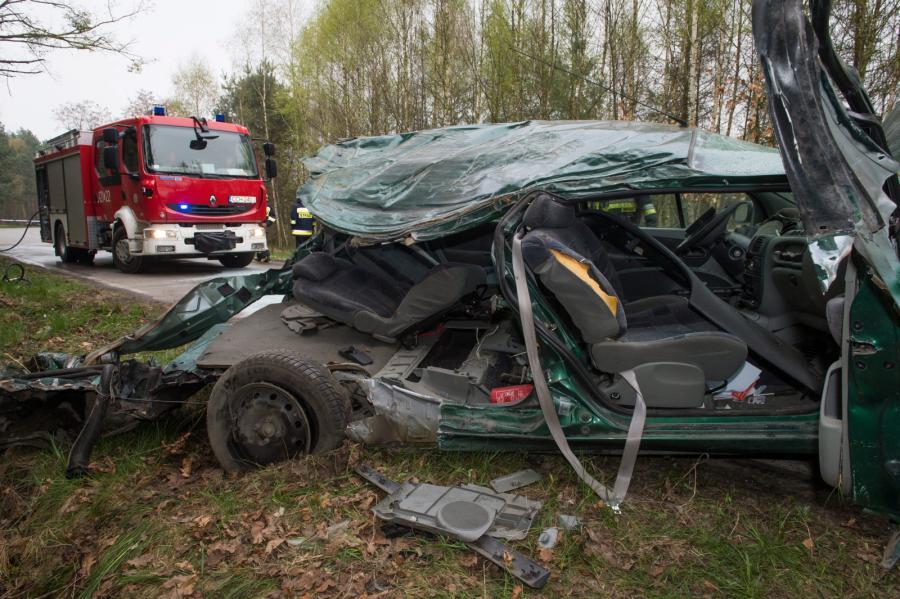 Miejsce wypadku w miejscowości Klamry