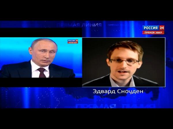 Władimir Putin odpowiada na pytanie Edwarda Snowdena