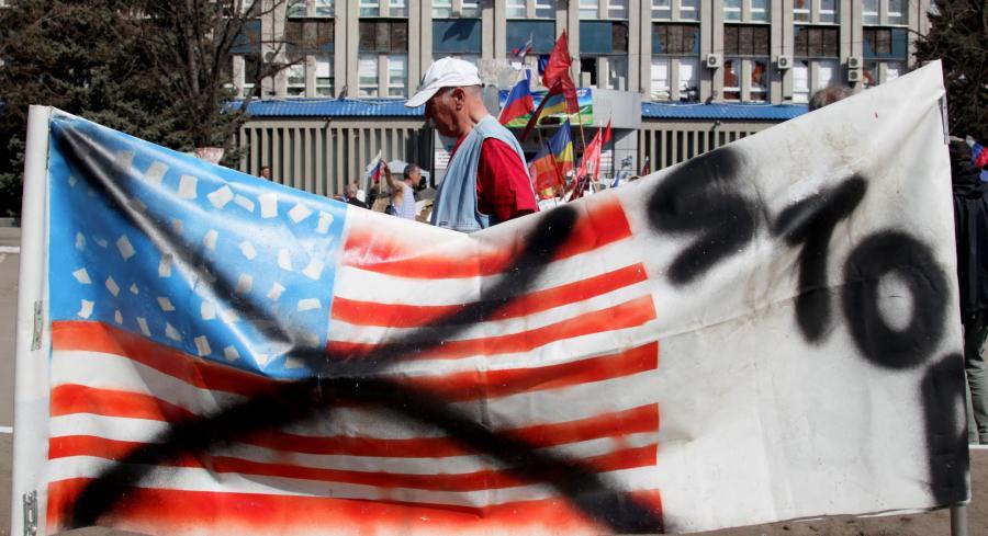 Demonstracja prorosyjskich bojówek