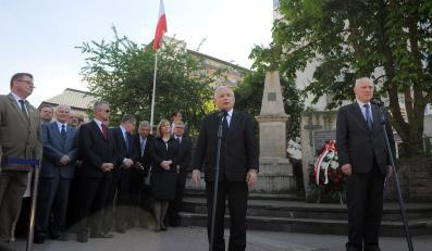 Jarosław Kaczyński i Grzegorz Jasiński w Radomiu