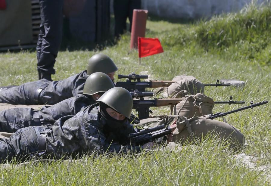 Ćwiczenia ukraińskiej Gwardii Narodowej