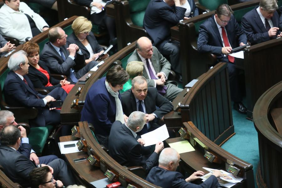 Grzegorz Schetyna i Jacek Rostowski w Sejmie