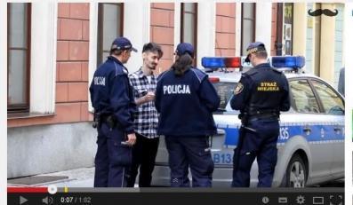 próbował poderwać policjantkę