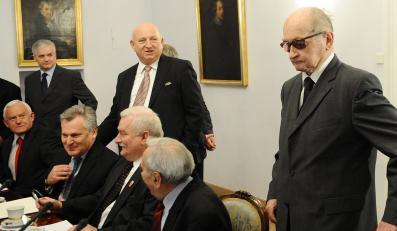 Gen. Wojciech Jaruzelski podczas posiedzenia Rady Bezpieczeństwa Narodowego w Warszawie