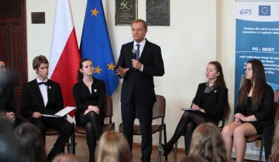 Donald Tusk w liceum w Gorzowie Wielkopolskim