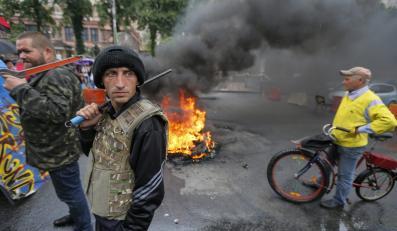 Ogień w centrum Kijowa