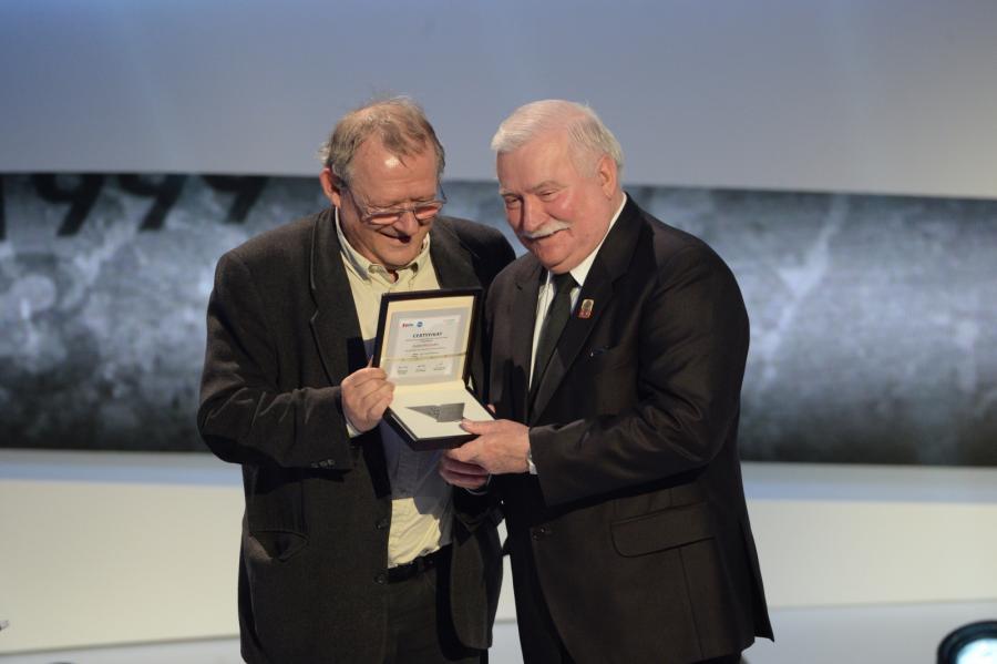 Adam Michnik i Lech Wałęsa
