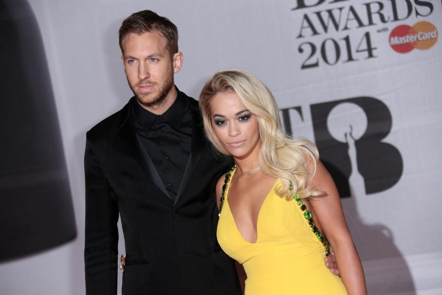 Rita Ora i Calvin Harris jeszcze jako para na ali BRIT Awards 2014 w lutym
