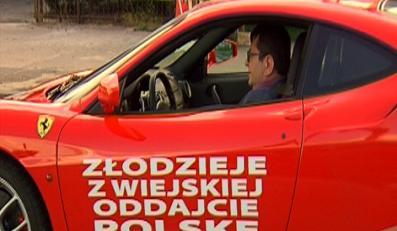 Zbigniew Stonoga w ferrari