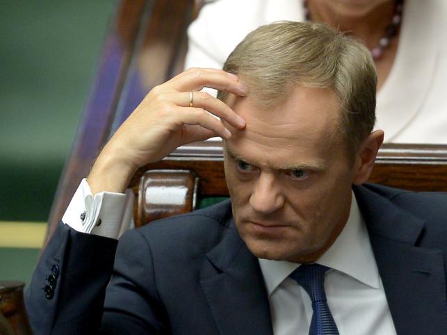 Premier Donald Tusk tłumaczył się z afery podsłuchowej