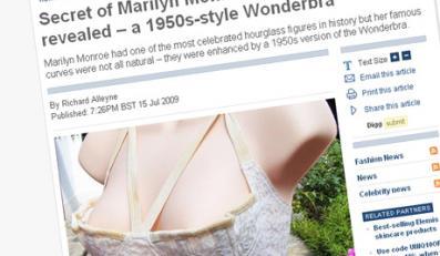 Słynne kształty Monroe to zasługa stanika?
