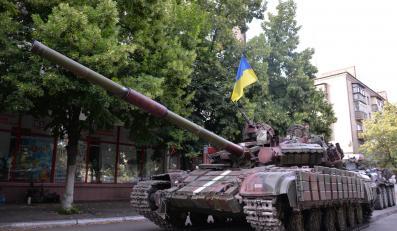 Ukraiński czołg w Słowiańsku
