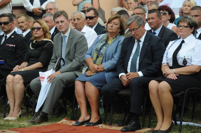 Para prezydencka na strażackiej uroczystości w Maćkowej Rudzie