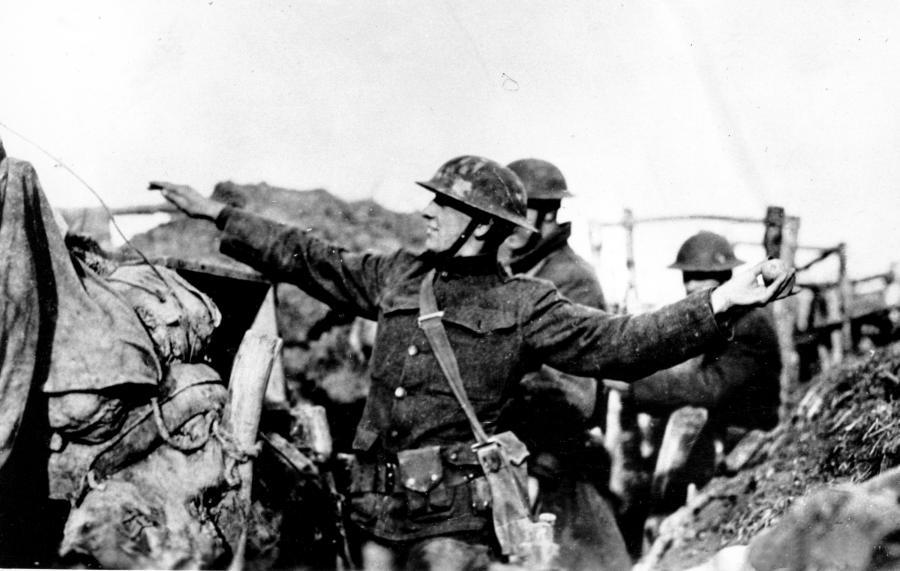 Żołnierz amerykańskiej piechoty na froncie zachodnim, marzec 1918 roku