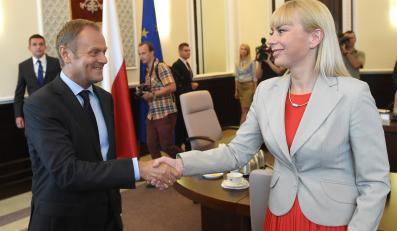 Donald Tusk i Elżbieta Bieńkowska